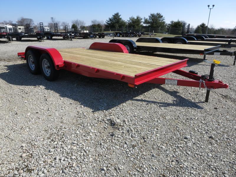16' Car Trailers Wood Floor w/ ramps - Brake