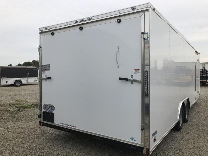 Continental Cargo 8.5X24 Enclosed Trailers W/ Ramp Door - 7000 GVW - Drings