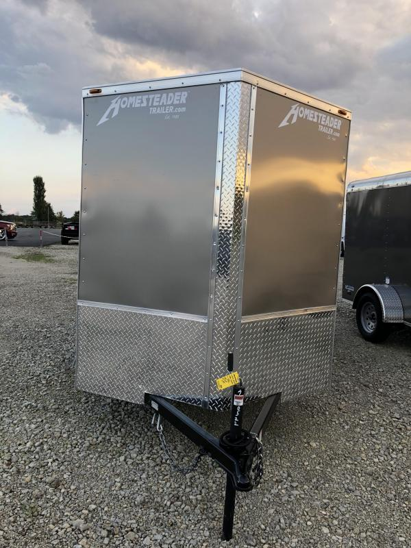 Homesteader Trailers 6x12 Enclosed Trailer w/ Ramp Door - D Rings - Side Wall Vents