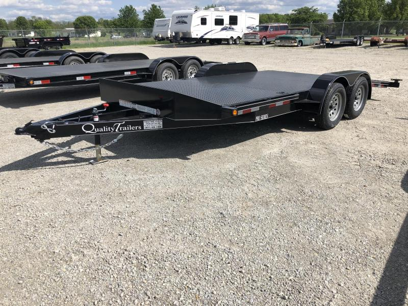 Quality Trailers 20' Steel Floor Car Trailers w/ ramps