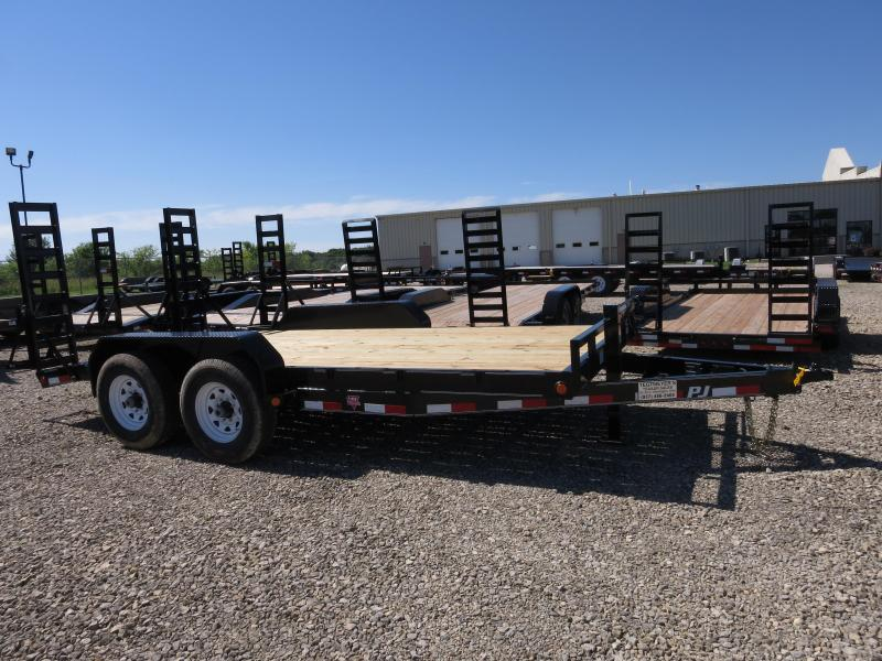 PJ Trailers 16' Equipment Trailer w/ Ramps