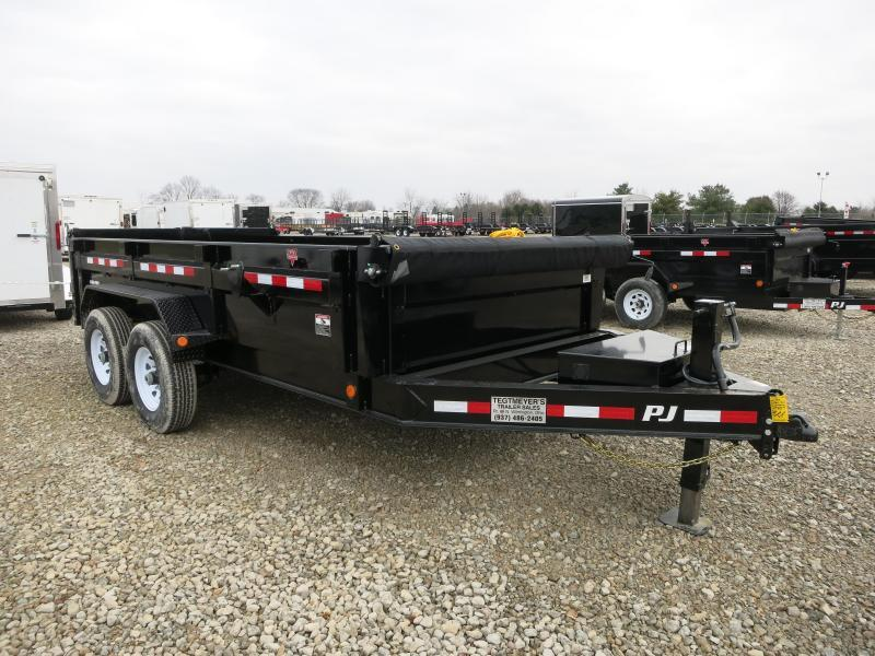 "PJ Trailers 14' x 83"" Low Pro Dump Trailer"