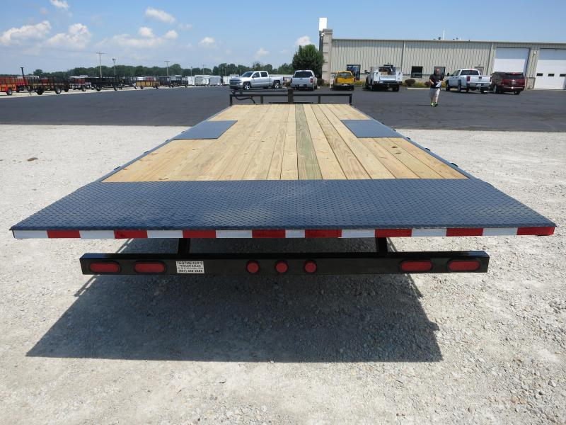PJ Trailer 22' Tandem Axle Deck over Flatbed Tilt Trailer