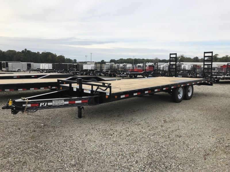 PJ Trailers 24' Deckover Flatbed Trailer w/ Ramps