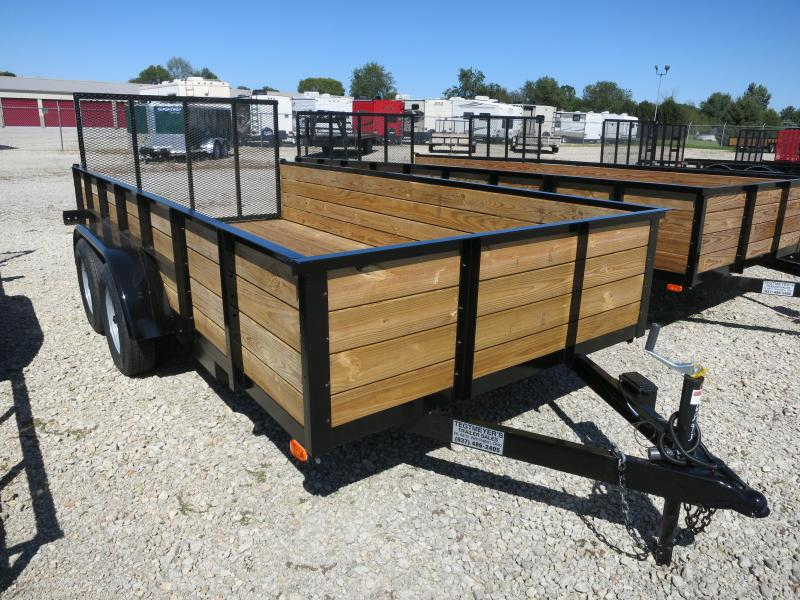 American Manufacturing 7x14 High Side Utility Trailer w/ Gate