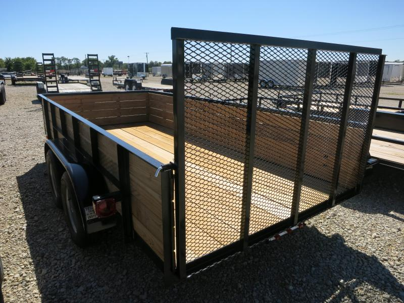 American Manufacturing 7x14 High Side Utility Trailer w/ Gate
