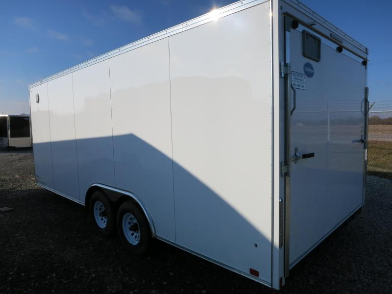 United Trailers 8.5 x 20 XLTV Enclosed Trailer w/ Ramp Door - Screwless Sides - Polished Corners - LED Lights