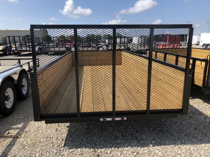 American Manufacturing 7x16 Utility Trailer w/ High Wood Sides & Gate