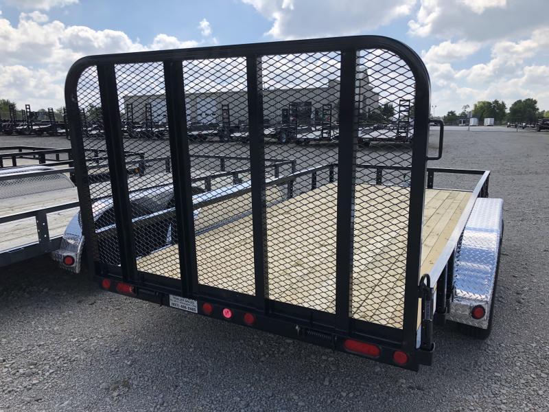 PJ Trailers 7x12 Utility Trailers w/ Gate - Single Axle 4995 GVW