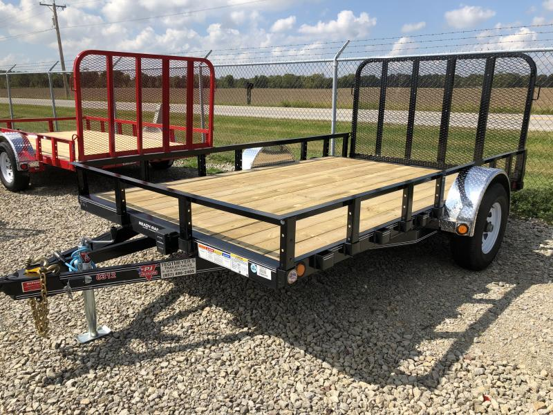 PJ Trailers 7x12 Utility Trailers w/ Gate - Single Axle 4995 GVW