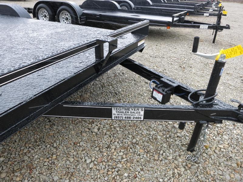 Lone Wolf Trailers 18' Steel Floor Car Hauler w/ ramps - dove