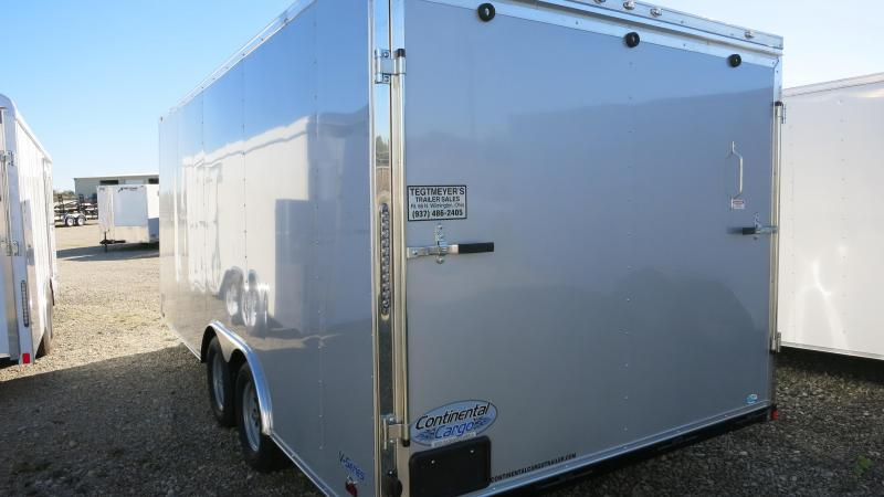 Continental Cargo 8.5X18 Tandem Axle Enclosed Trailer W/ Ramp Door - Roof Vent - D rings