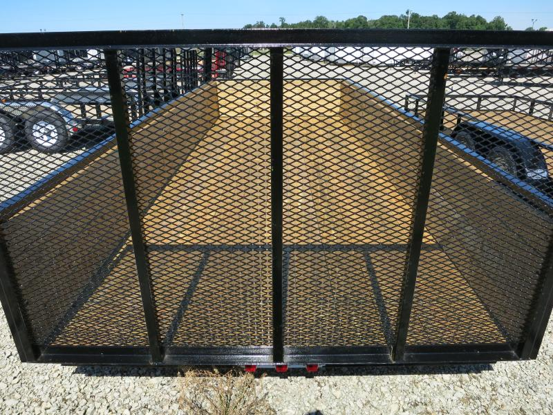 American Manufacturing 7x18 Utility Trailer w/ High Wood Sides & Gate