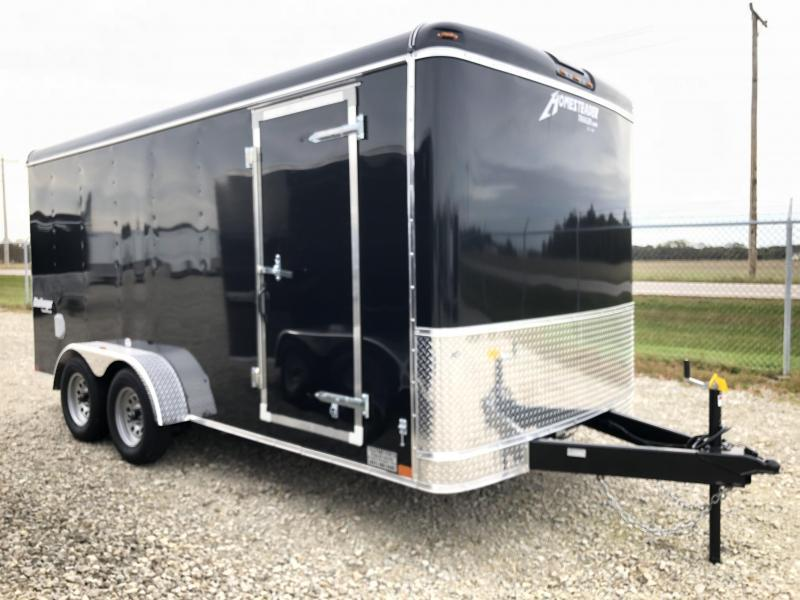Homesteader Trailers 7x16 Enclosed Trailer w/ Ramp Door - Side Door