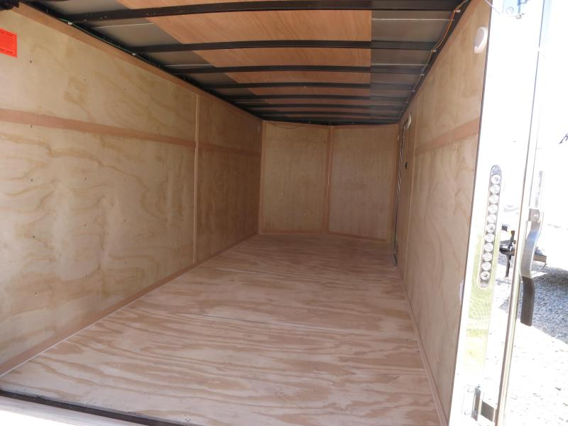 Continental Cargo Trailers 7X16 Enclosed Trailers W/ R& Doors - Dome Lights - LED Tail Lights - Stone Gard & Continental Cargo Trailers 7X16 Enclosed Trailers W/ Ramp Doors ...