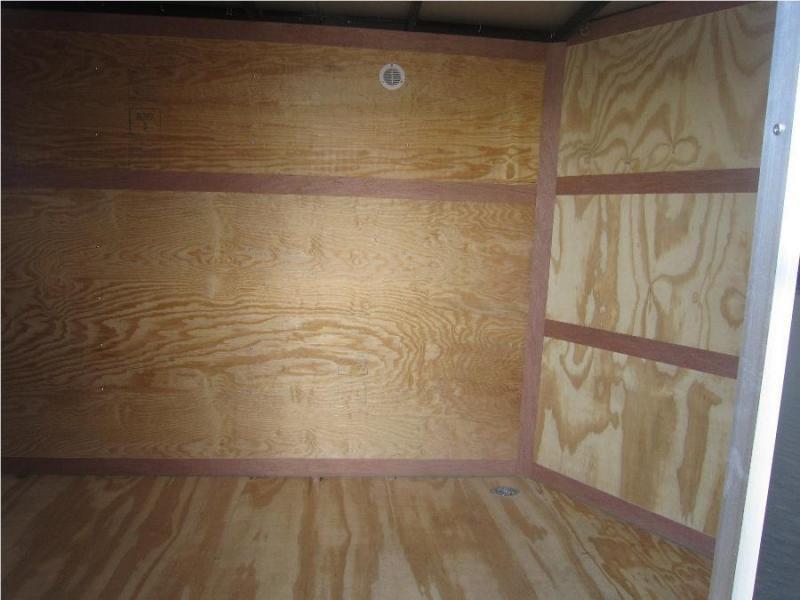 Homesteader Trailers 6x12 Enclosed Trailer w/ Ramp Door - D Rings - Side Wall Vents