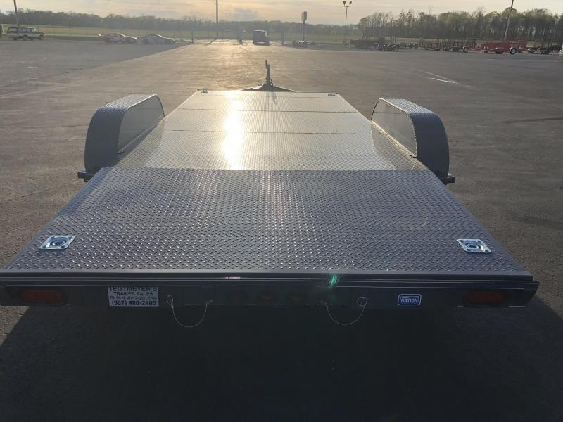 Nation Tank & Trailers - 18' Steel Floor Car Hauler w/ ramps - removable fenders