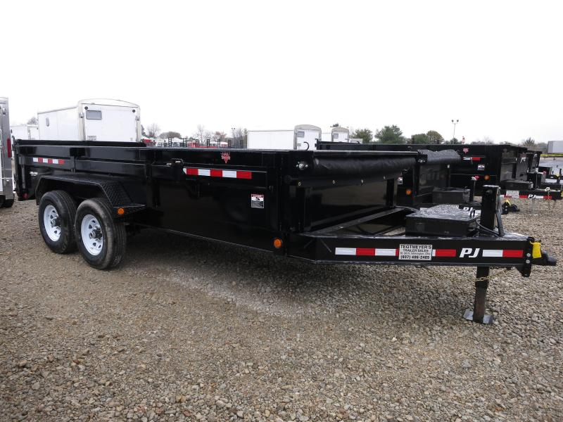 "PJ Trailers 16' x 83"" Low Pro Dump Trailer"