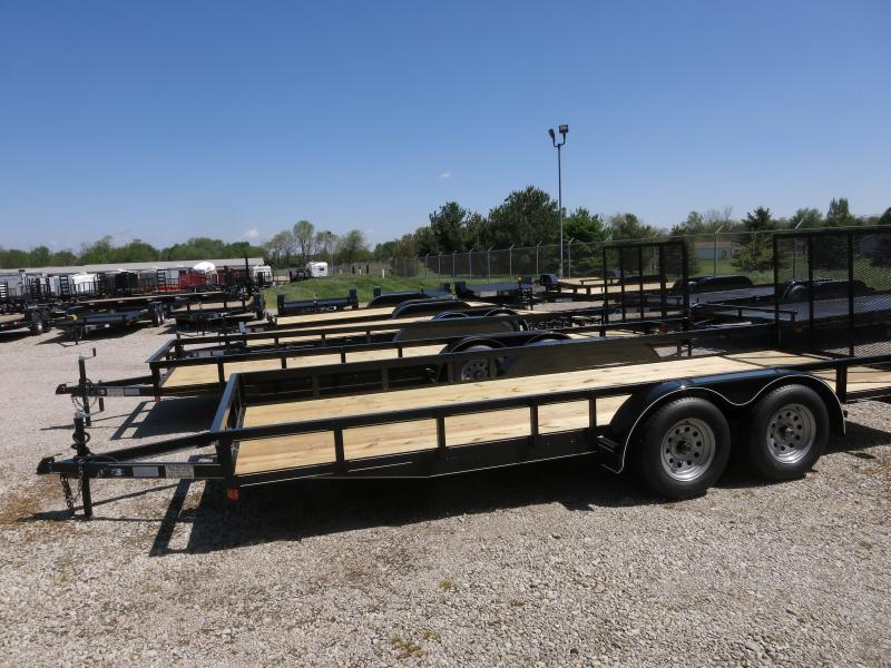 P&T Trailers 6x18 Tandem Axle Utility w/ Rear Gate