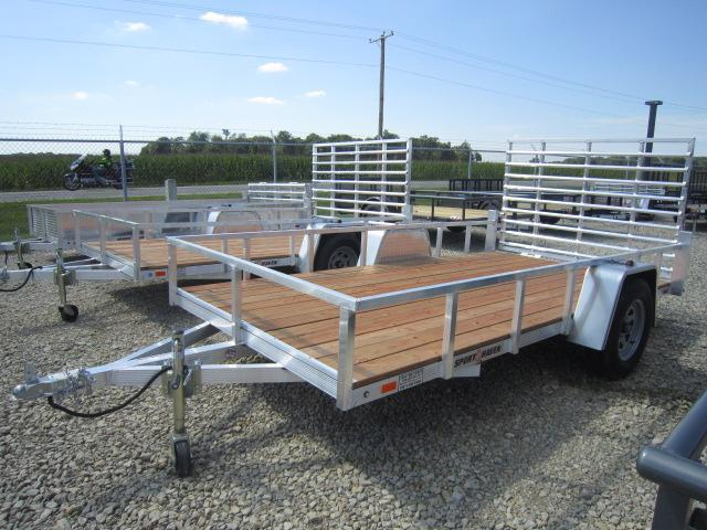 Sport Haven 6x12 Aluminum Utility Trailer w/ Gate