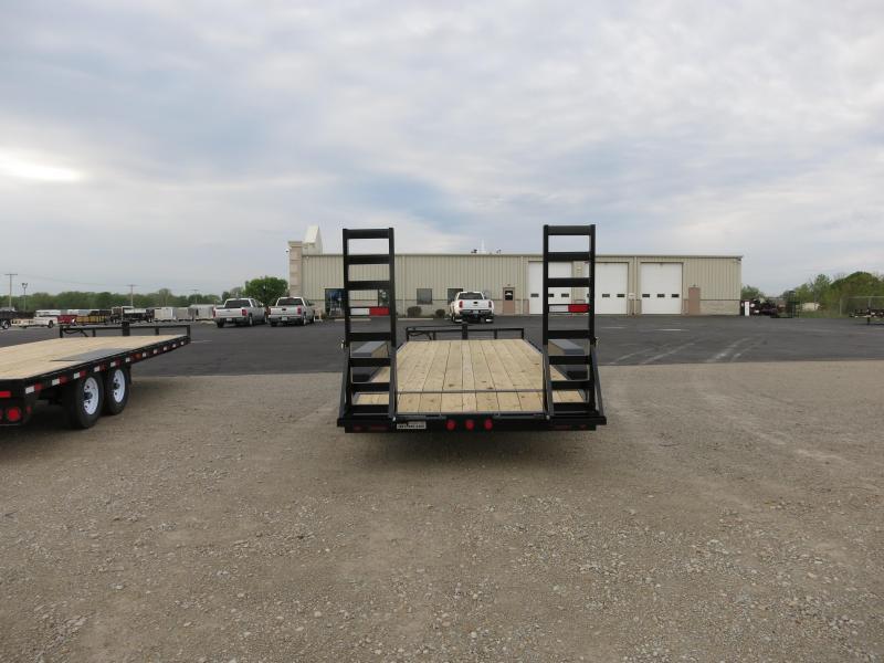 PJ Trailers 20' Equipment Trailer w/ Heavy Duty Gate- Dove
