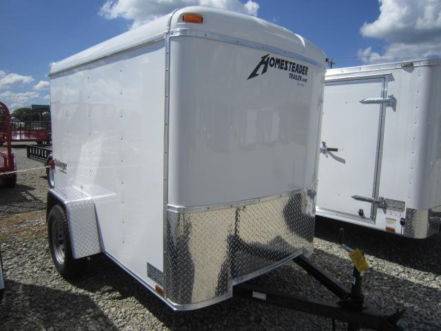 Homesteader 5x8 Single Axle Enclosed w/ Single Rear Door