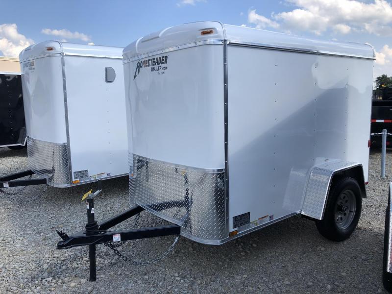 Homesteader 5x8 Single Axle Enclosed w/ Single Rear Door