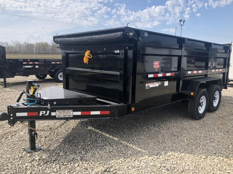 "PJ Trailers 16' x 83"" Low Pro High Side Dump Trailer"