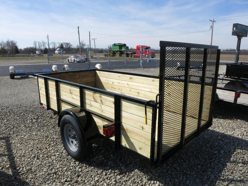 American Manufacturing 5x10 Utility Trailer w/ wood sides gate