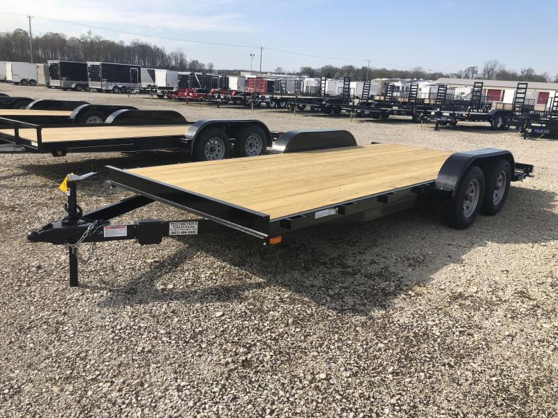 18' Car Trailers Wood Floor w/ ramps - Brake