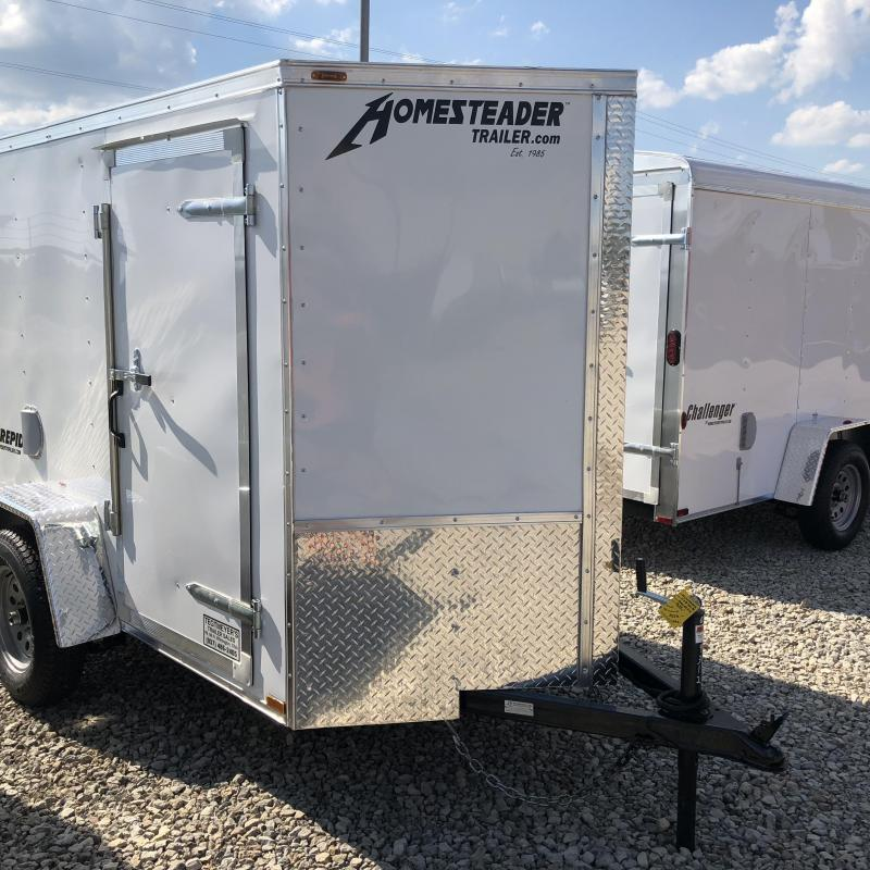 Homesteader 5x8 SA Enclosed Trailer w ramp door - Side wall vents - D Rings