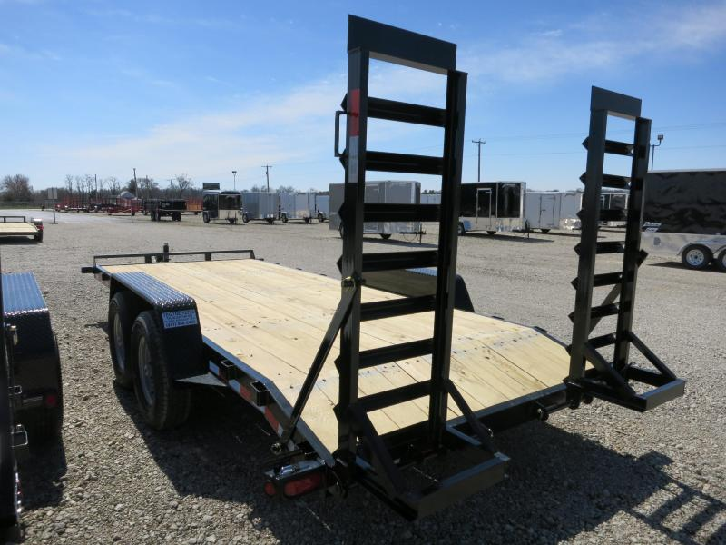 Quality Trailers 18' Wood Floor Flatbed Trailer w/ ramps - 14000 GVW