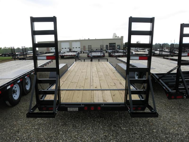 PJ Trailers 20' Equipment Trailer w/ Heavy Duty Gate- Dove