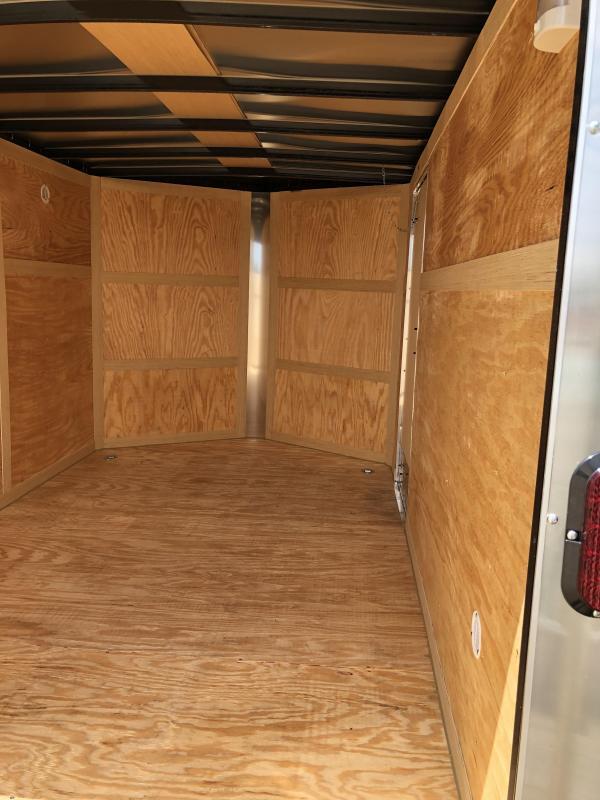 Homesteader Trailers 7x12 Enclosed Trailer w/ Ramp Door - D Rings - Side Wall Vents
