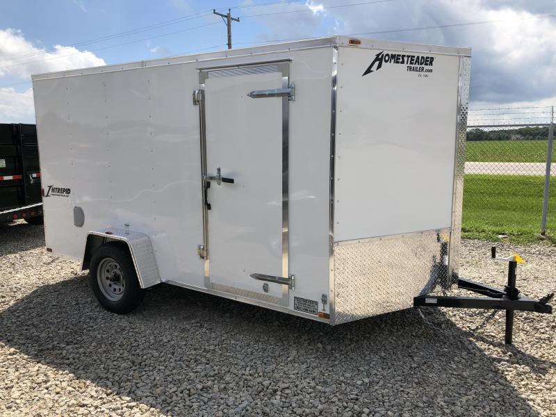 Homesteader Trailers 7x12 Enclosed Trailer w/ Ramp Door - D Rings - Side Wall Vents