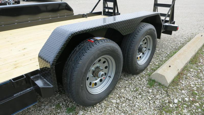 Skid Steer Axles : Top hat trailers flatbed with stand up ramps skid