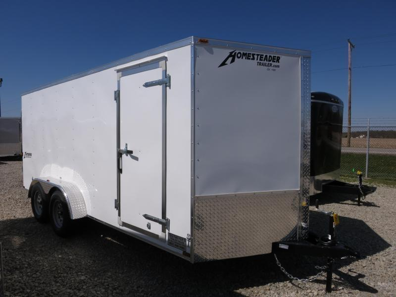 Homesteader 7x16 Enclosed Trailer w/ Double Rear Doors