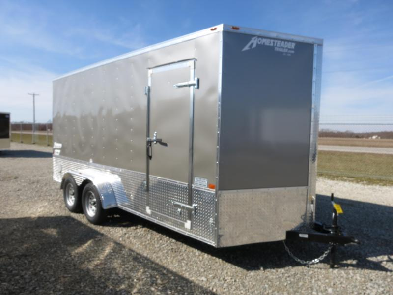 Homesteader Trailers 7x16 Enclosed Trailer w/ Ramp Door - Side Wall Vents - D Rings - Side Door in Ashburn, VA