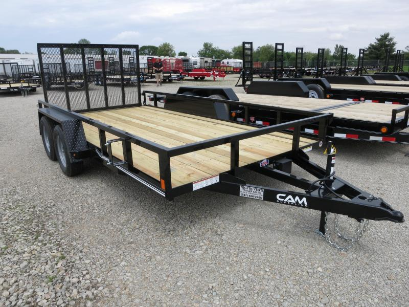 Cam Superline Trailers  7x14 Utility w/ gate