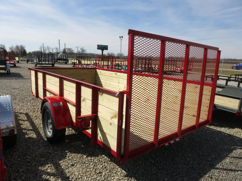 American Manufacturing 6x12 Utility Trailer w/ wood sides gate