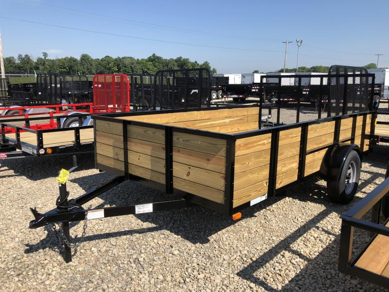 American Manufacturing 7x12 Utility Trailer w/ wood sides gate