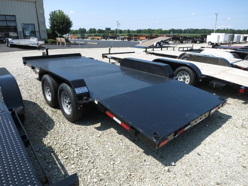 Cam Superline Trailers  7x18 TA Steel Floor Car Hauler