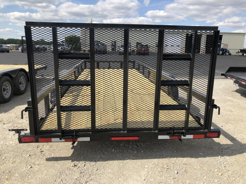 Quality Trailers 7x20 Wood Floor Utility Trailer