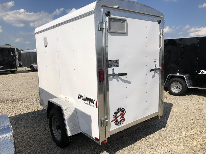 Homesteader Trailers 5x8 Enclosed Trailer w/ Ramp Door - Side Door