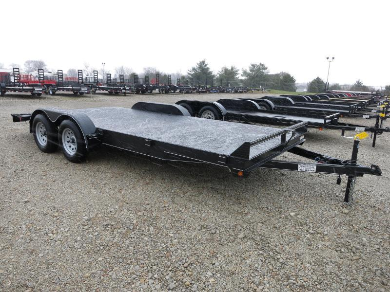 Lone Wolf Trailers 18' Steel Floor Car Hauler w/ ramps - dove