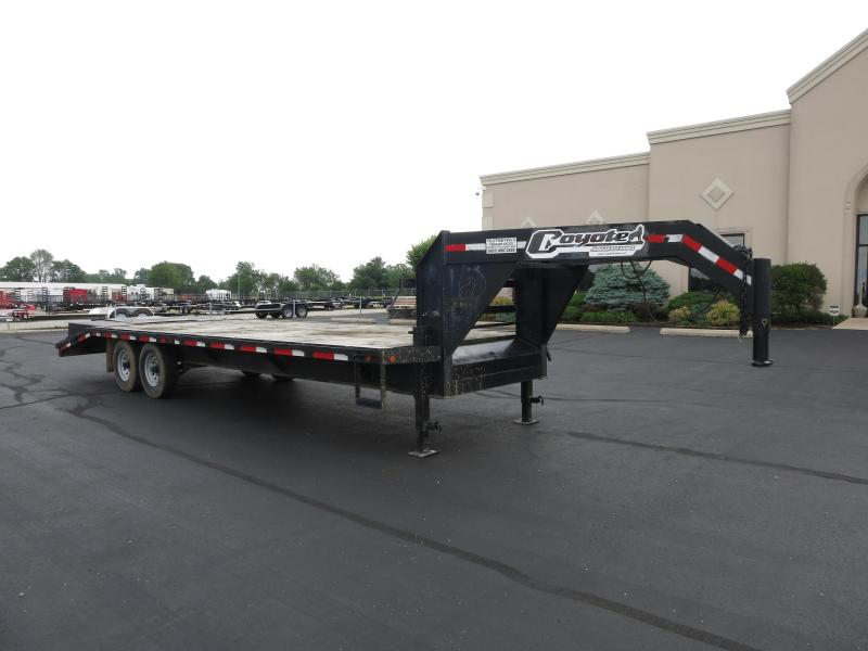 Used 25' Single Wheel Gooseneck Flatbed