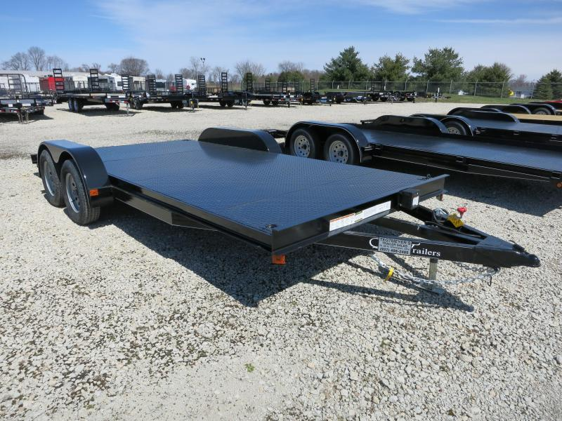 Quality Trailers 18' Steel Floor Car Trailers w/ ramps - 7000 GVW - BRAKE