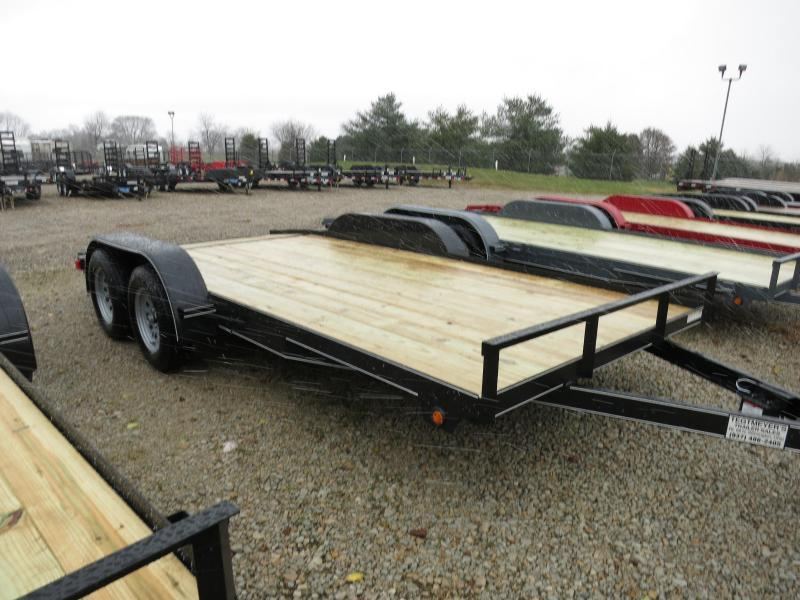 Lone Wolf Trailers 16' Wood Floor Car Trailers w/ ramps - 7000 GVW - BRAKE
