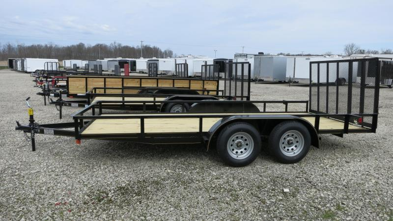 "PJ Trailers 16'x83"" Utility Trailer w/ Fold Up Gate"