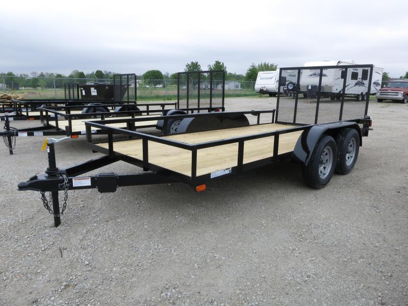 American Manufacturing 6x14 Tandem Axle Utility Trailer w/ gate